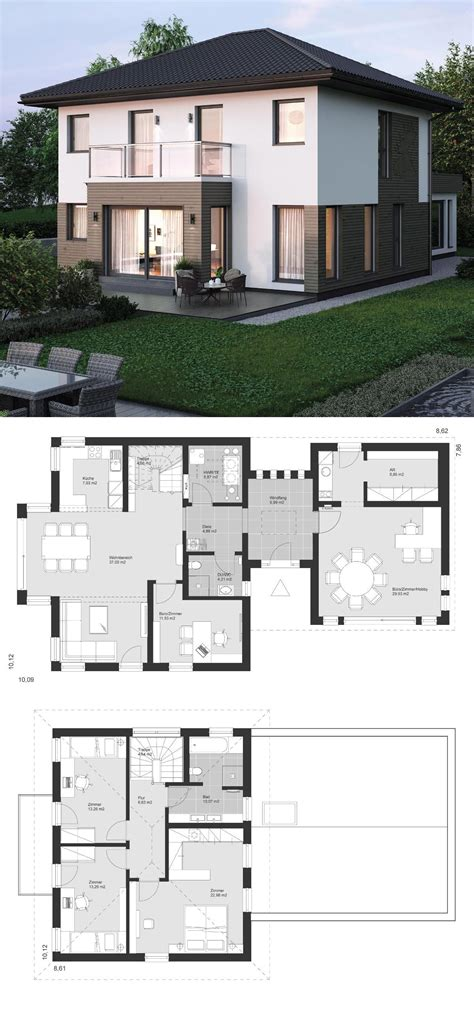 Moderne Häuser Architektur Grundriss by Stadtvilla Modern Grundriss Klassisch Mit Walmdach
