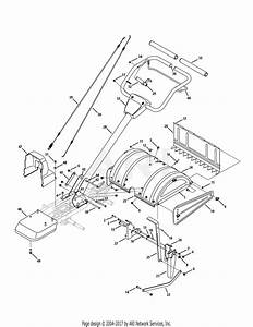 Mtd 21aa40m1029  2009  Parts Diagram For Handle  U0026 Tine Shield