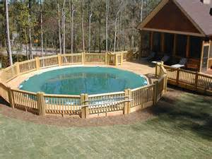 awesome backyard swimming pool decks above ground designs kitchentoday