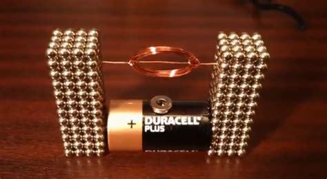 tiny electric motor   buckyballs