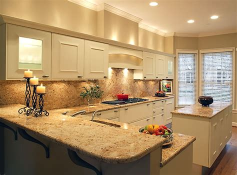 shaped kitchen layout with peninsula decosee contemporary backsplash L