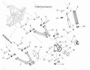Polaris Side By Side 2010 Oem Parts Diagram For Suspension  Rear