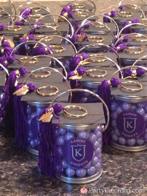 graduation party favors mortar board cap mini paint cans
