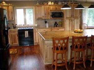 what countertops go with hickory cabinets google search With kitchen cabinets lowes with maxwell the moose wall art