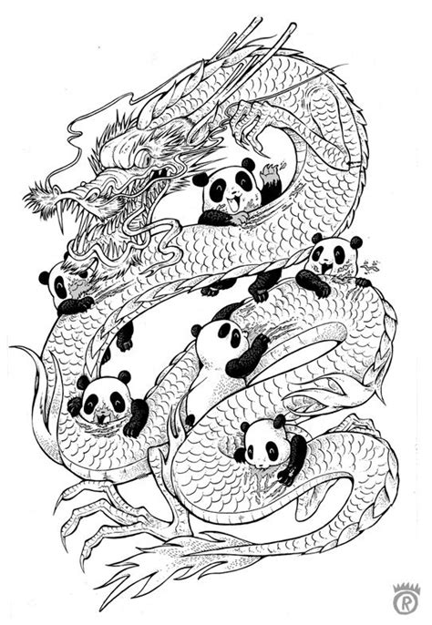 year of the panda (outline) | Cute coloring pages, Adult