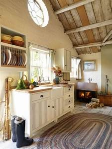 38 super cozy and charming cottage kitchens digsdigs With simple and cozy country kitchen designs