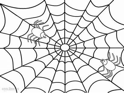 Spider Coloring Web Pages Printable Cartoon Preschool