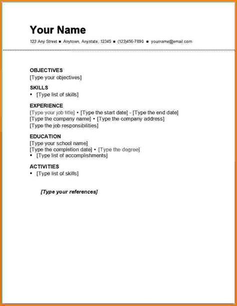 Resume Resume Template by Free Resume Templates Resume Resume
