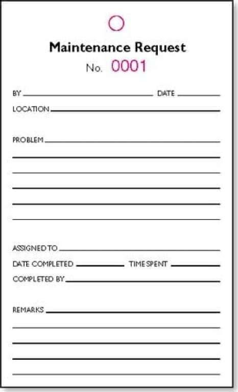 maintenance request form template  templates