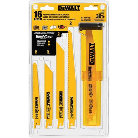 sawzall blades shop dewalt 16 pack bi metal reciprocating saw blade set