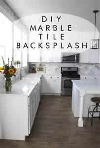 how to do a kitchen backsplash tile my diy marble backsplash honeybear