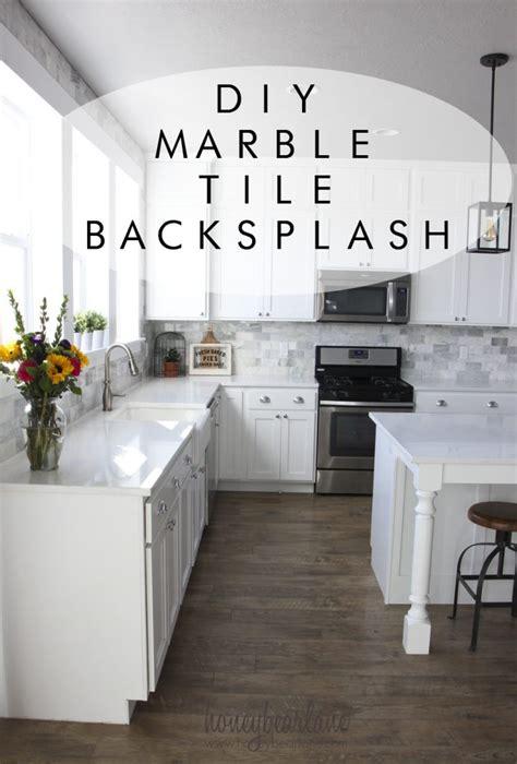 backsplash subway tile for kitchen my diy marble backsplash honeybear