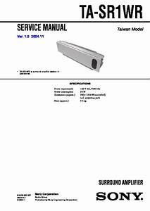 Sony Dav-sr1w  Hcd-sr1w Service Manual