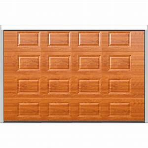 porte sectionnelle cassette isolante chene dore With porte de garage enroulable et porte chene