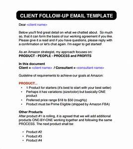 6 sample follow up emails sample templates for Customer follow up email template
