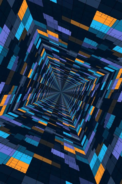 Download Wallpaper 800x1200 Perspective Geometric