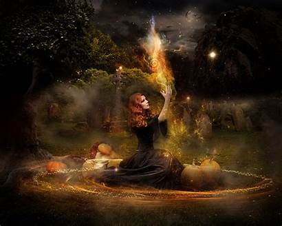 Witch Fantasy Halloween Witches Background Witchcraft Wallpapers