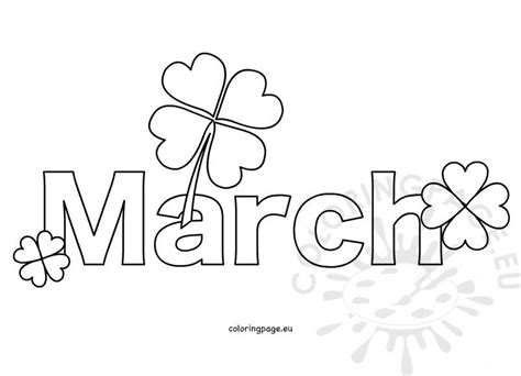 month march coloring page