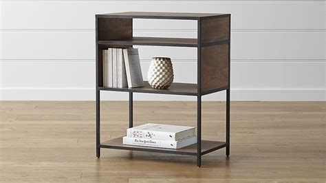 crate and barrel bookcase low open bookcase crate and barrel