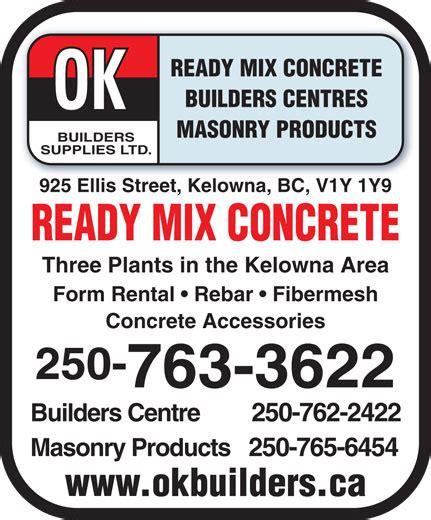 ready mix concrete masonry products kelowna bc