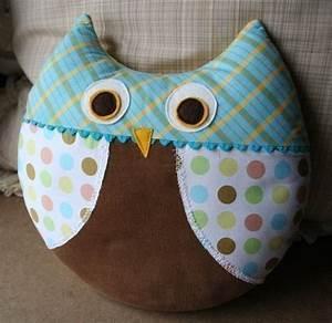 Max the Owl Pillow Plush Sewing Pattern PDF Cute Simple Fun