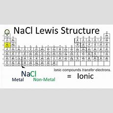 Nacl Lewis Structure How To Draw The Lewis Dot Structure For Nacl Youtube
