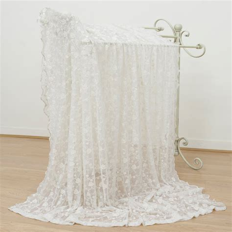 emily mcguinness floral embroidered lace curtain