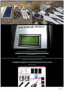 Diy 12v To 240v Ac  Solar Wind Hybrid Off Grid 1kw Wind 1kw Solar By Samuel Marchant