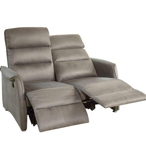 canapé relax gris canapé relax électrique 2p gris softy univers salon