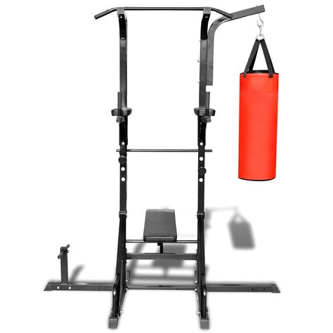 chaise romaine weider power tower with sit up bench and boxing bag vidaxl com