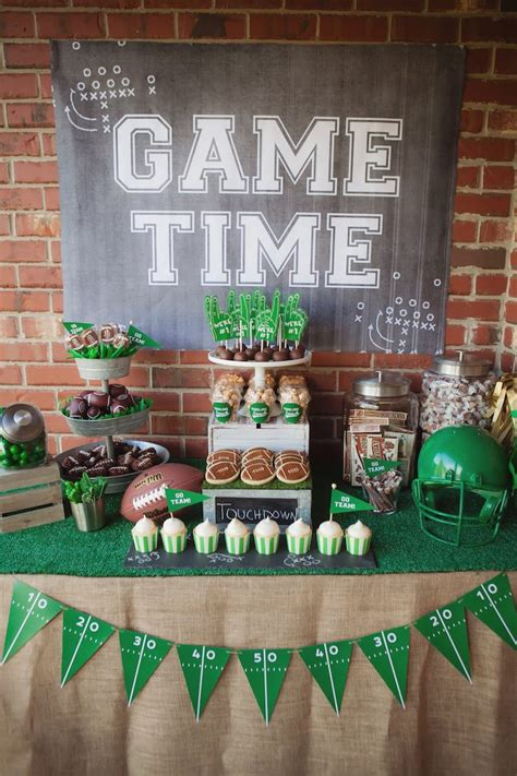 Football Decorations - kara s ideas tailgate football birthday kara