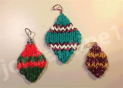 how to make a rainbow loom diamond shaped christmas