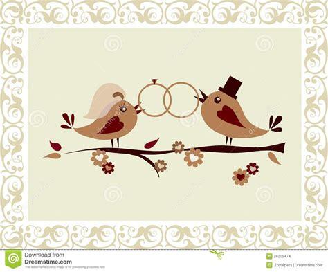 wedding invitation  birds stock images image