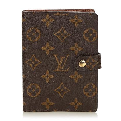 louis vuitton vintage monogram agenda pm brown diary  monogram leather  leather