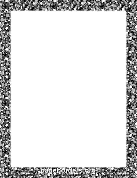 printable black glitter border   border