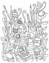 Coloring Pages Sewing Adults Getcolorings Printable sketch template