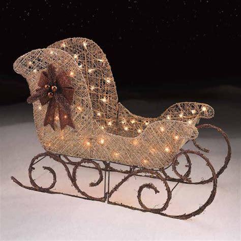 outdoor light  gold santa sleigh christmas