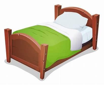 Bed Cartoon Blanket Clipart Wood Vector Wooden