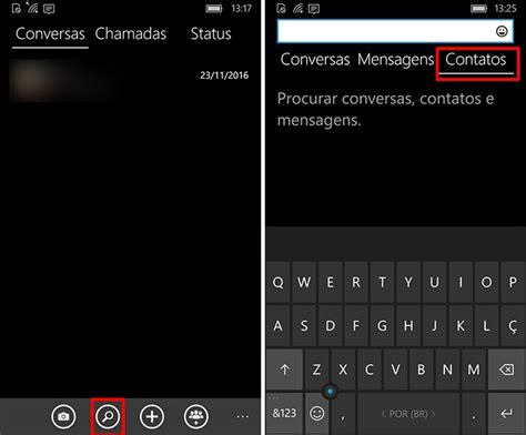 como encontrar seus contatos no whatsapp para windows