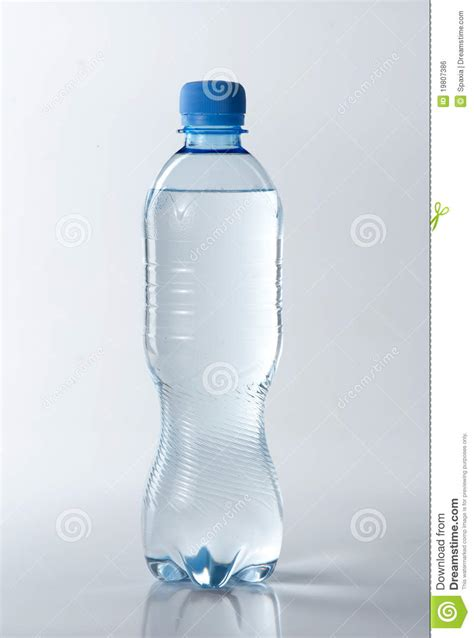 resh clear water  plastic bottle royalty  stock