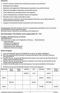 Elektrische Arbeit Berechnen : pr fungsvorbereitung physik elektrischer strom pdf ~ Themetempest.com Abrechnung