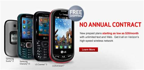 cheap cell phone plans no contract verizon launches cheap pre paid plans starting as low as