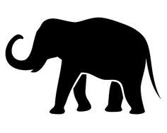 elephant silhouette trunk  clipart symbols  good