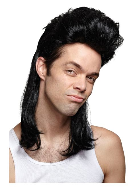 nightclub mullet black wig wigs