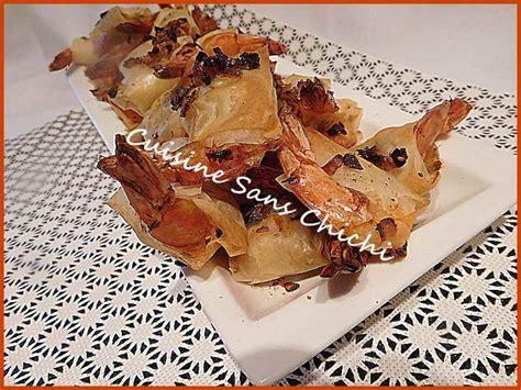 pate a filo recette recette crevettes aux 233 chalotes en p 226 te filo