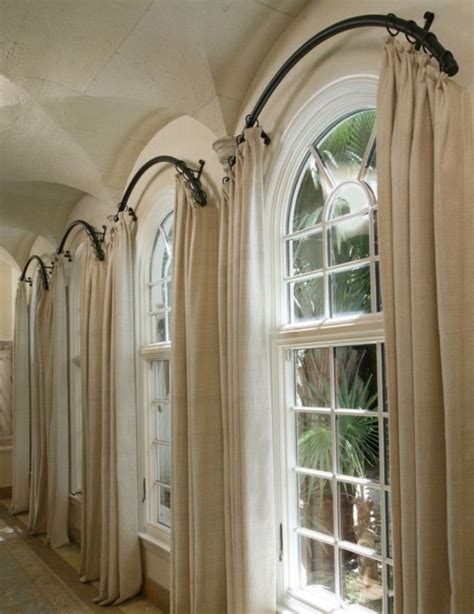 arched window treatments home decor