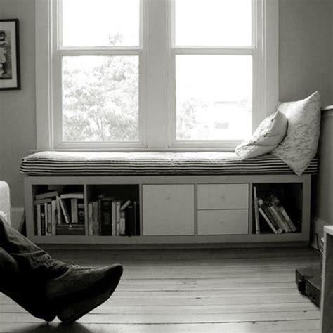 Window Seat Bench Ikea by Ikea Bookshelf With Reused Futon Into Great Window Seat
