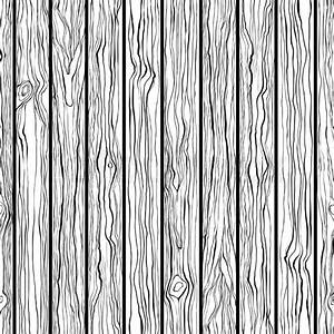 Wood texture. Seamless vector pattern. Black and white ...