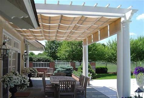 pergola  retractable canopy    idea  multiple shades      sun