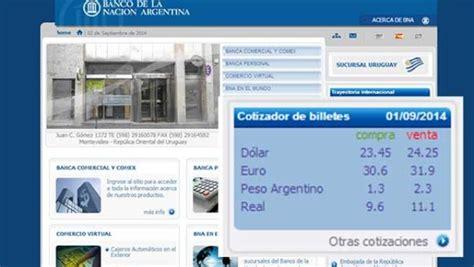 Uruguay Dolar En El Banco De La Naci 243 N Argentina De Montevideo El D 243 Lar